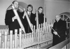 Orgelpfeifen mit Rohtert kl